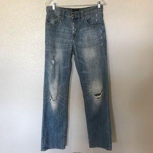Rock & Republic Distressed Blue Jeans 30x32